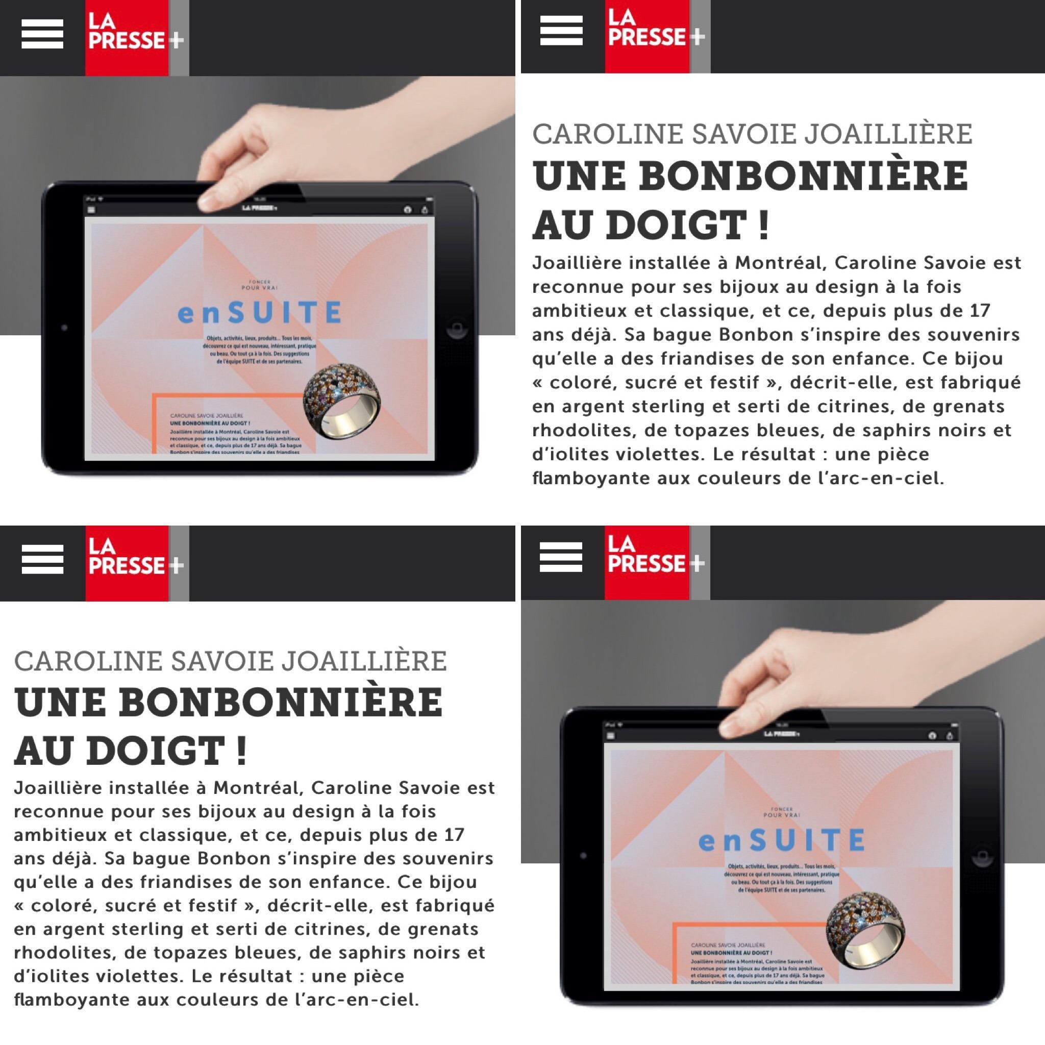 Caroline Savoie Joaillerie La Presse Plus Bague Bonbon Bijoux Faits a la main au Quebec (1)