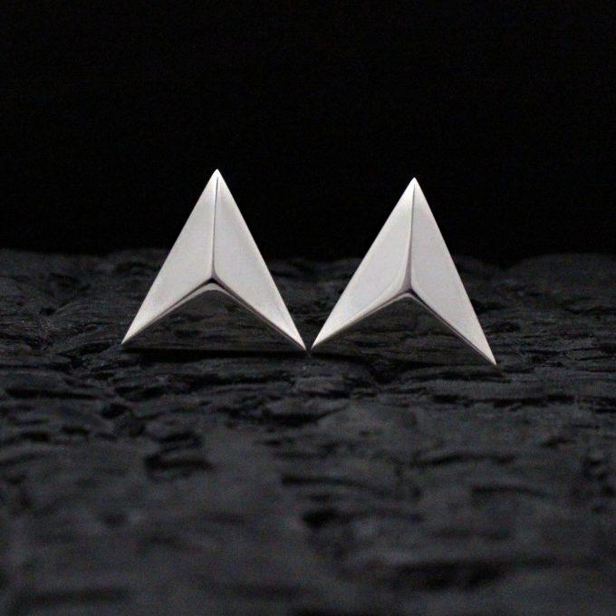 Caroline Savoie Joaillerie Boucles D'oreilles Pyramides Bijoux Faits Main Montreal Handmade Jewellery Earrings (1)