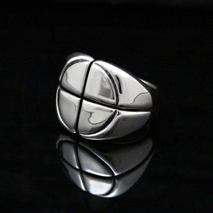 Caroline Savoie Joaillerie Bague Cible Bijoux Unisexe Joaillier Quebec Handmade Jewellery Silver Ring (9)