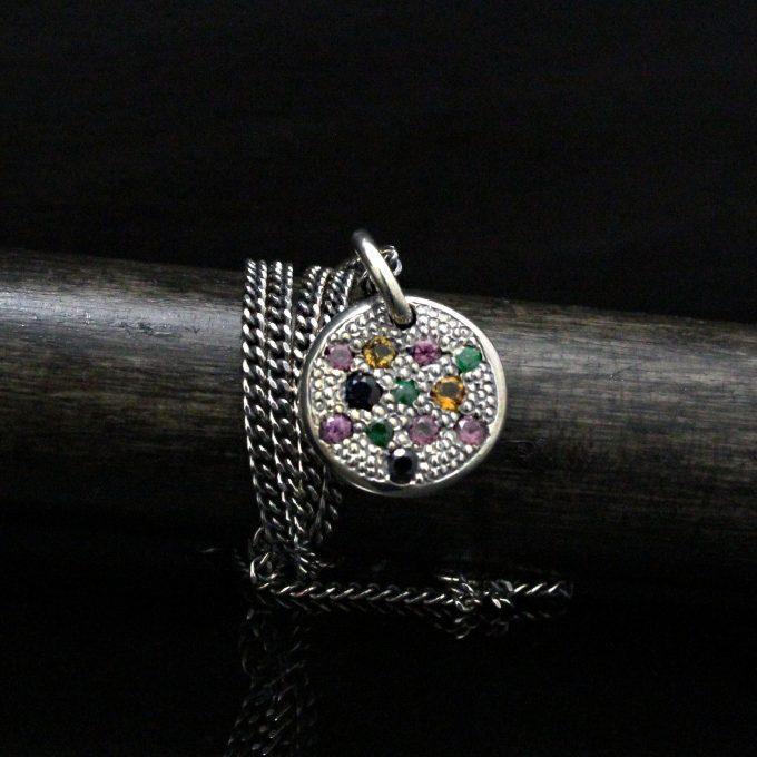 Caroline Savoie Joaillerie Pendentif Mini Bijoux Quebec Fait Main Handmade Jewellery Small Silver Pendant (4)