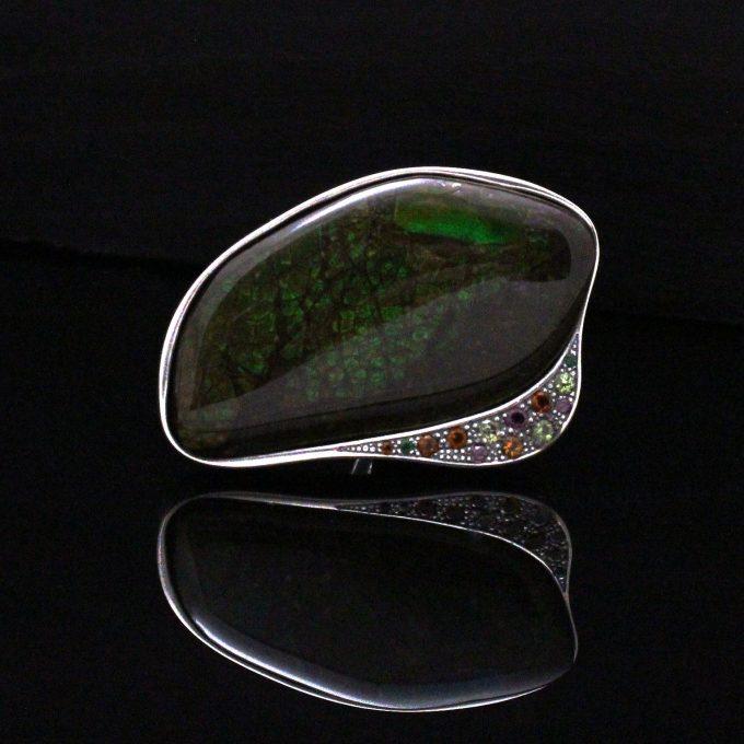 Caroline Savoie Joaillerie Bague Eden Ammolite Fait Main Bijoux Quebec Montreal Handmade Jewellery Ring (2)