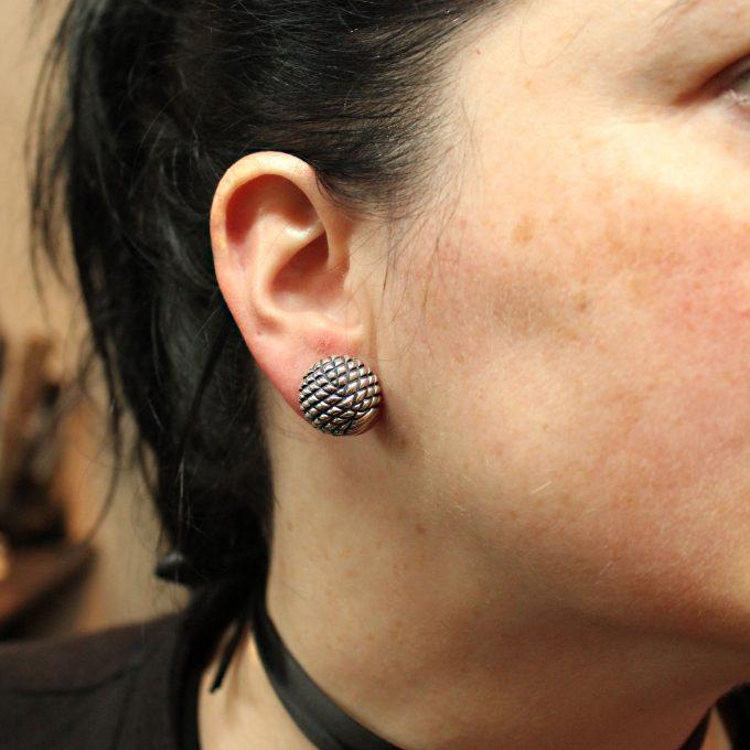 Caroline Savoie Joaillerie Boucles D'Oreilles Domes Bijoux Fait Main Joaillier Quebec Handmade Jewellery Earrings