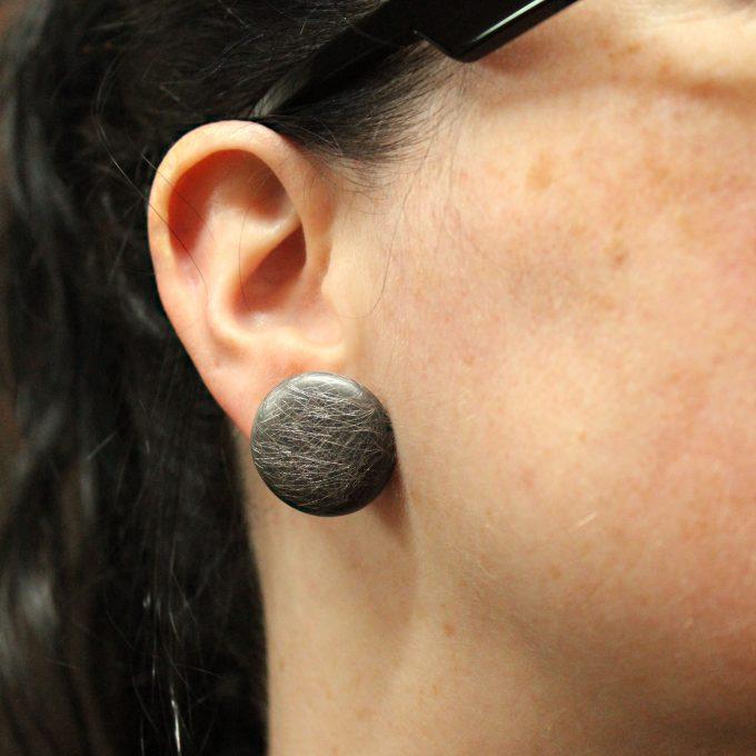 Caroline Savoie Joaillerie Boucles D'Oreilles Glace Noire Bijoux Fait Main Joaillier Quebec Handmade Jewellery Earrings