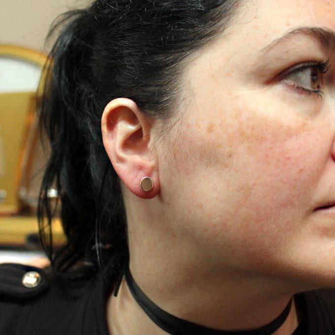 Caroline Savoie Joaillerie Boucles D'Oreilles Rouge A Levres Bijoux Fait Main Joaillier Quebec Handmade Jewellery Earrings