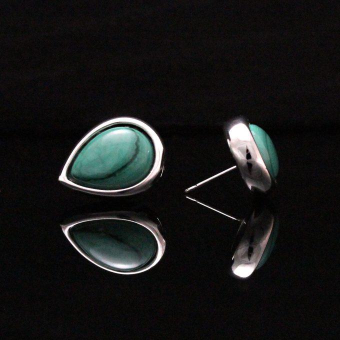 Caroline Savoie Joaillerie Boucles D'oreilles Vertes Bijoux Quebec Fait Main Montreal Handmade Jewellery Green Earrings (1)