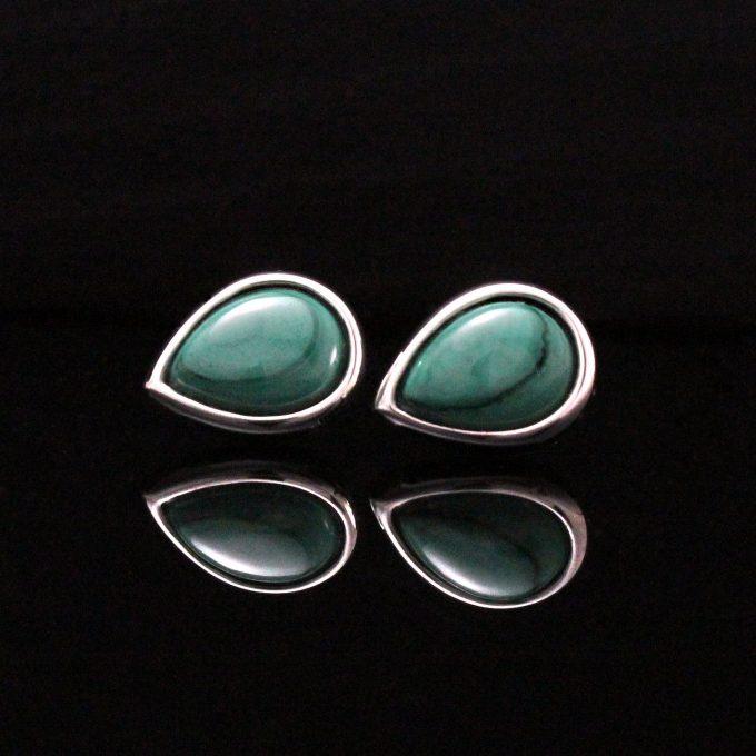 Caroline Savoie Joaillerie Boucles D'oreilles Vertes Bijoux Quebec Fait Main Montreal Handmade Jewellery Green Earrings (5)
