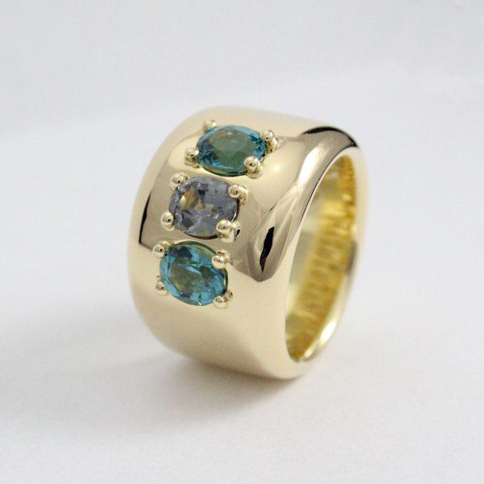 Caroline Savoie Joaillerie Bague Vendôme Or 18k Bijoux Fait Main Quebec Montreal Handmade Jewellery 18k Gold Ring Spinel Tourmaline (1)