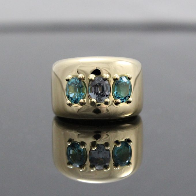 Caroline Savoie Joaillerie Bague Vendôme Or 18k Bijoux Fait Main Quebec Montreal Handmade Jewellery 18k Gold Ring Spinel Tourmaline (7)