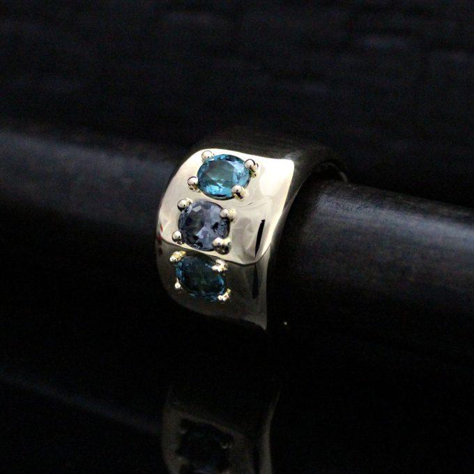 Caroline Savoie Joaillerie Bague Vendôme Or 18k Bijoux Fait Main Quebec Montreal Handmade Jewellery 18k Gold Ring Spinel Tourmaline (6)