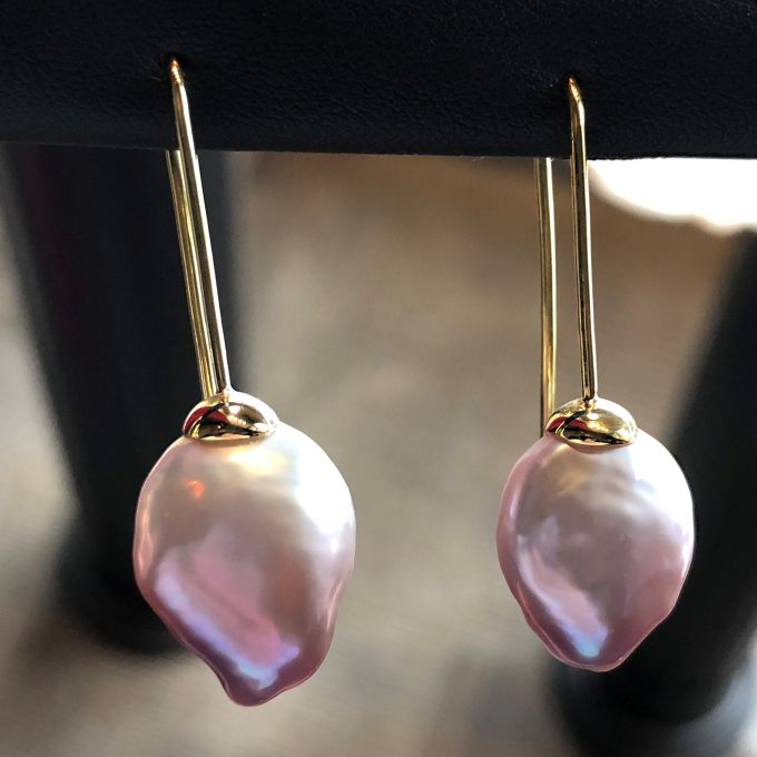 Caroline Savoie Joaillerie Boucles D'oreilles Perles Bijoux Fait Main Quebec Montreal Handmade Jewelry Pearl Earrings 18k gold(1)