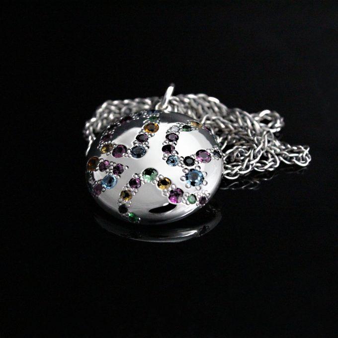 Caroline Savoie Joaillerie Pendentif Bonbon Bijoux Faits Main Joaillier Quebec Montreal Handmade Jewellery Candy Pendant Colorful (8)