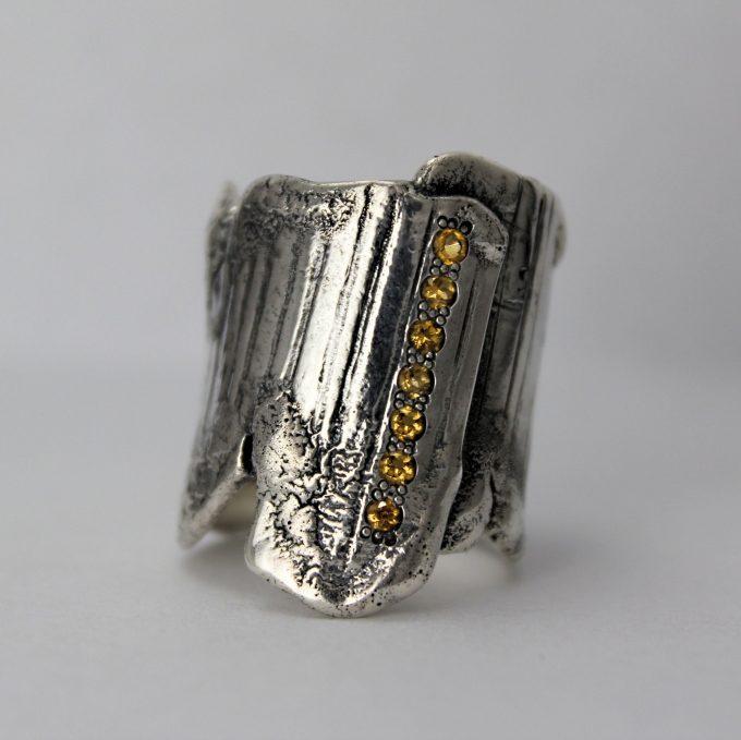 Caroline Savoie Joaillerie Bague Corset Citrines Bijoux Fait Main Joaillier Quebec Montreal Jeweller Handmade Jewelry Corset Ring (1)