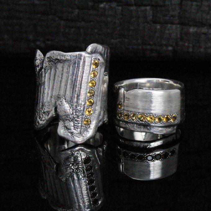 Caroline Savoie Joaillerie Bague Corset Citrines Bijoux Fait Main Joaillier Quebec Montreal Jeweller Handmade Jewelry Corset Ring (2)