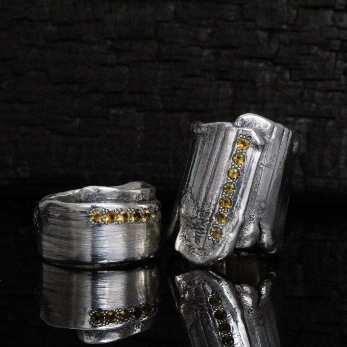 Caroline Savoie Joaillerie Bague Corset Citrines Bijoux Fait Main Joaillier Quebec Montreal Jeweller Handmade Jewelry Corset Ring (5)