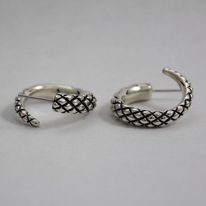 Caroline Savoie Joaillerie Boucles D'oreilles Serpents Bijoux Fait Main Montreal Quebec Handmade Jewelry Snake Earrings (1)