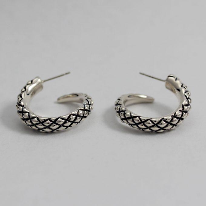Caroline Savoie Joaillerie Boucles D'oreilles Serpents Bijoux Fait Main Montreal Quebec Handmade Jewelry Snake Earrings (3)