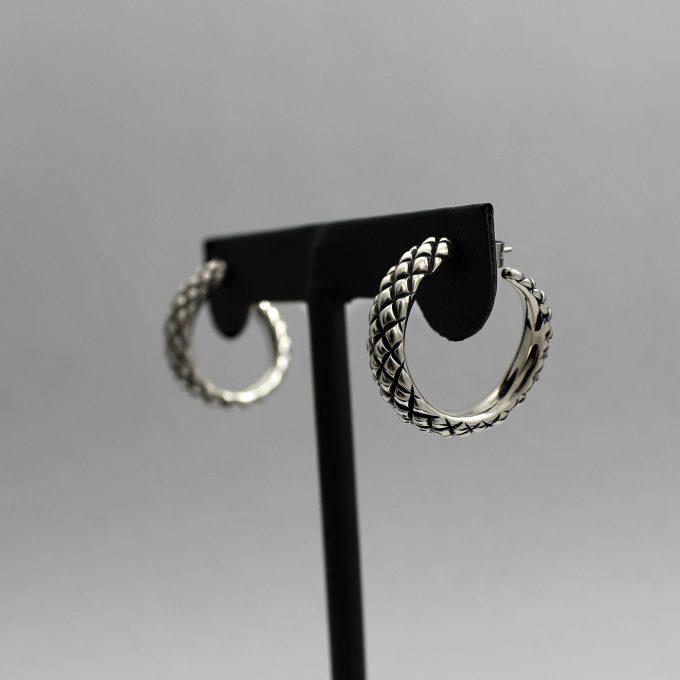 Caroline Savoie Joaillerie Boucles D'oreilles Serpents Bijoux Fait Main Montreal Quebec Handmade Jewelry Snake Earrings (4)