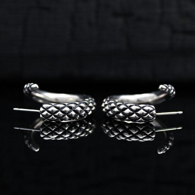 Caroline Savoie Joaillerie Boucles D'oreilles Serpents Bijoux Fait Main Montreal Quebec Handmade Jewelry Snake Earrings (6)