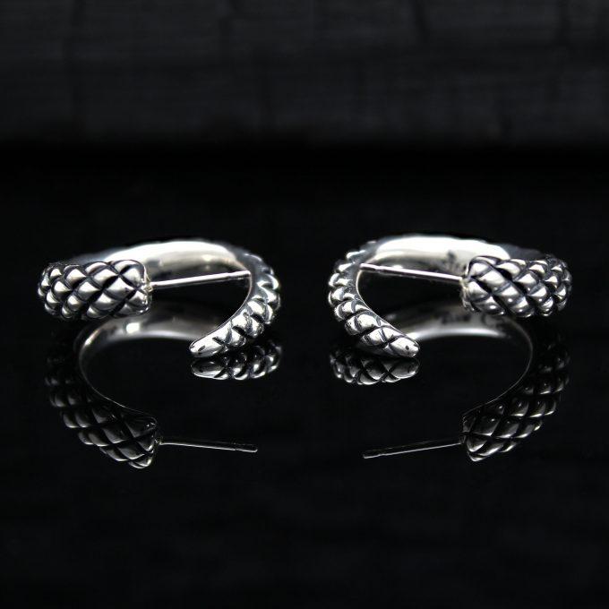 Caroline Savoie Joaillerie Boucles D'oreilles Serpents Bijoux Fait Main Montreal Quebec Handmade Jewelry Snake Earrings (7)