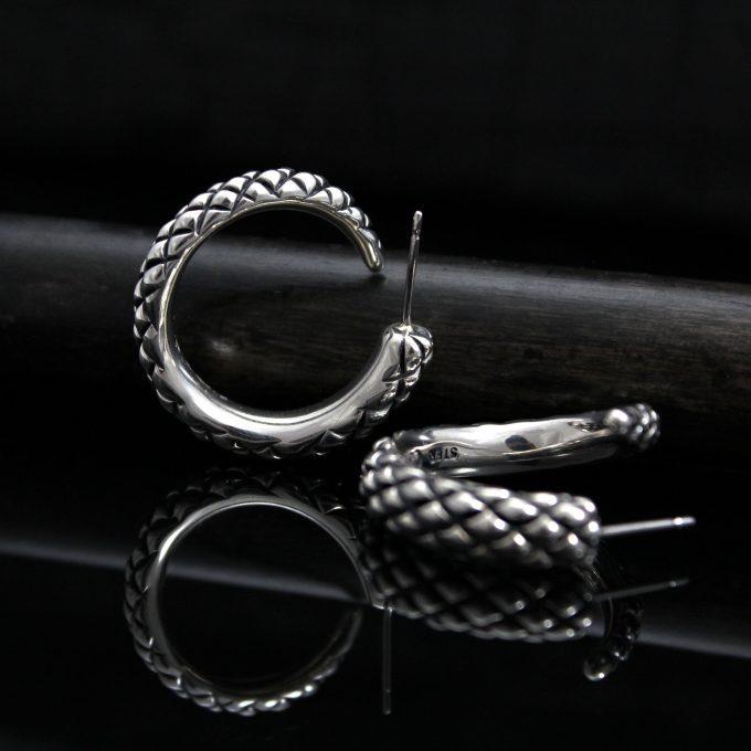 Caroline Savoie Joaillerie Boucles D'oreilles Serpents Bijoux Fait Main Montreal Quebec Handmade Jewelry Snake Earrings (8)